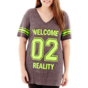 City Streets® Short-Sleeve Tunic Tee - Plus
