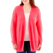 Arizona Long-Sleeve Pointelle Cardigan - Plus