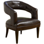 Lyra Bonded Leather Accent Chair