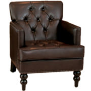 Mikaella Bonded Leather Club Chair