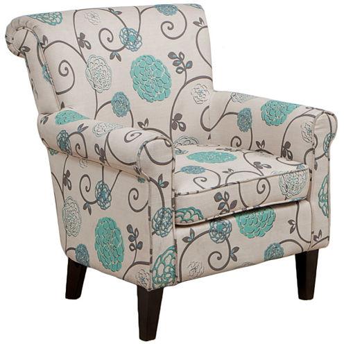 Cannon Floral Club Chair