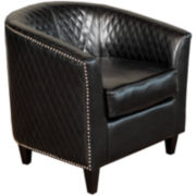 Harris Bonded Leather Quilted Club Chair
