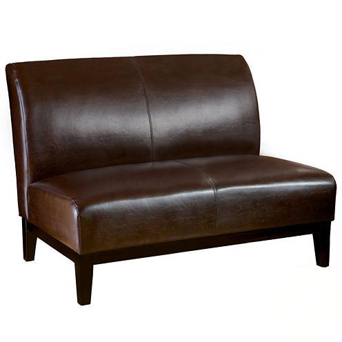 Joseph Bonded Leather Settee