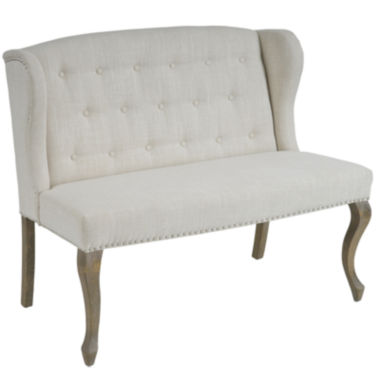 jcpenney.com | Mirabella Wingback Tufted Settee with Nailhead Trim