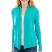 Stylus™ Long-Sleeve Flyaway Cardigan Sweater - Tall