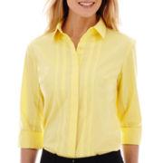 Worthington® 3/4-Sleeve Button-Front Shirt