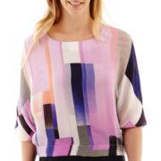 Worthington® Kimono-Sleeve Blouse