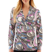Worthington® Long-Sleeve Tunic Blouse