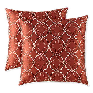 Jcpenney Decorative Throw Pillows : JCPenney Home Ogee 2 pack Decorative Pillows