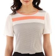 Worthington® Short-Sleeve Colorblock Top - Tall