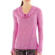 Xersion™ Shirred Draped Cowlneck Top - Tall