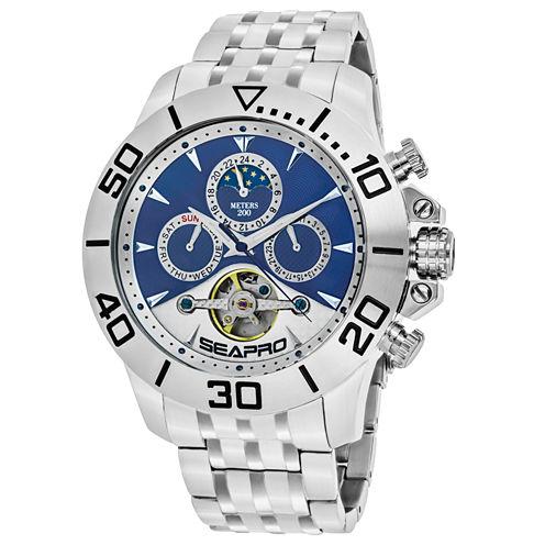 Sea-Pro Montecillo Mens Silver Tone Bracelet Watch-Sp5136