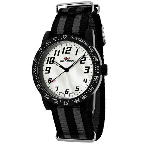 Sea-Pro Bold Womens Two Tone Strap Watch-Sp5210nbk