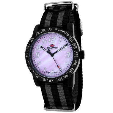 jcpenney.com | Sea-Pro Bold Womens Two Tone Strap Watch-Sp5211nbk