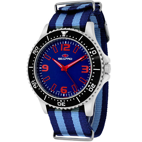 Sea-Pro Tideway Mens Two Tone Strap Watch-Sp5313nbl