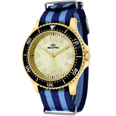 jcpenney.com | Sea-Pro Tideway Mens Two Tone Strap Watch-Sp5315nbl