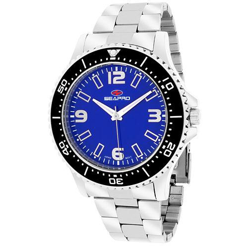 Sea-Pro Tideway Mens Silver Tone Bracelet Watch-Sp5332
