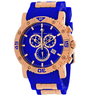 jcpenney.com | Christian Van Sant Mens Blue Strap Watch-Cv0513