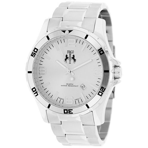 Jivago Mens Silver Tone Bracelet Watch-Jv6111