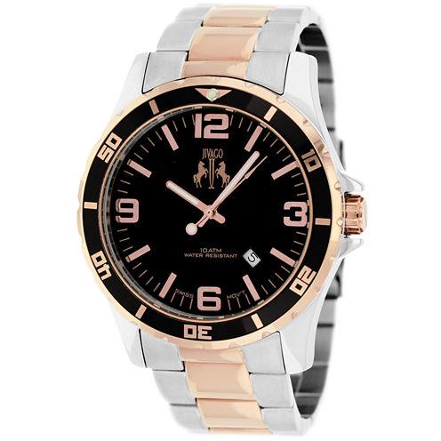 Jivago Mens Two Tone Bracelet Watch-Jv6118