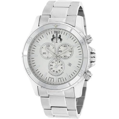 Jivago Mens Silver Tone Bracelet Watch-Jv6121