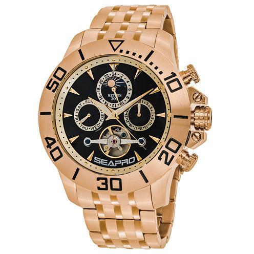 Sea-Pro Montecillo Mens Rose Goldtone Bracelet Watch-Sp5132