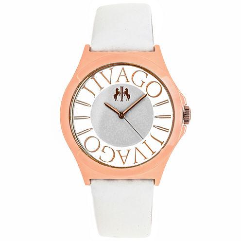 Jivago Womens White Strap Watch-Jv8434