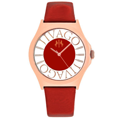 jcpenney.com | Jivago Womens Red Strap Watch-Jv8436