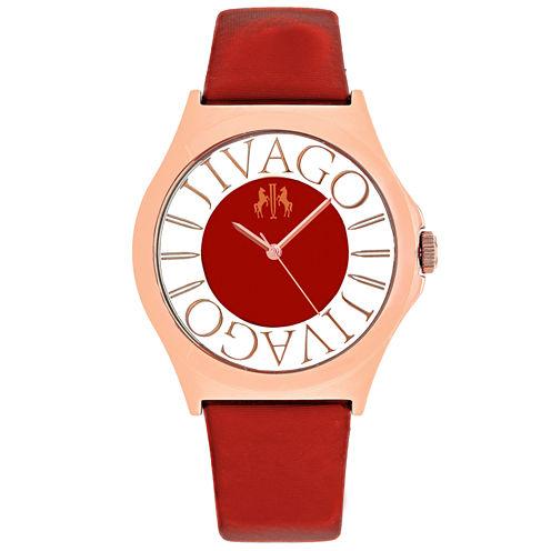 Jivago Womens Red Strap Watch-Jv8436
