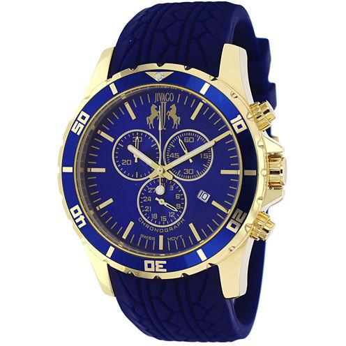 Jivago Mens Blue Strap Watch-Jv0123
