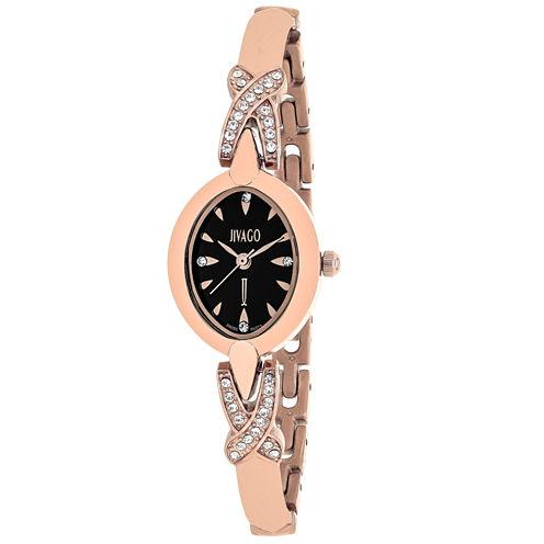 Jivago Womens Rose Goldtone Bracelet Watch-Jv3613