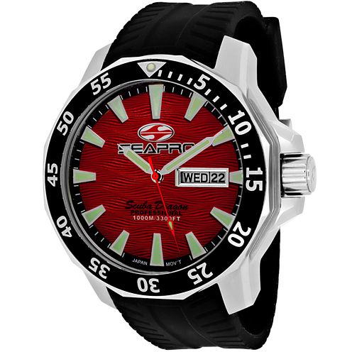 Sea-Pro Diver Limited Edition Mens Black Strap Watch-Sp8317