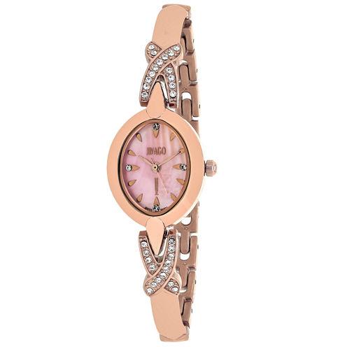 Jivago Womens Rose Goldtone Bracelet Watch-Jv3615