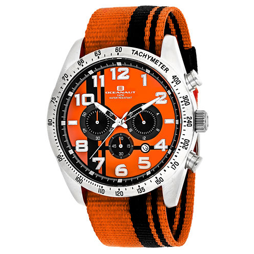 Oceanaut Mens Orange Strap Watch-Oc3521