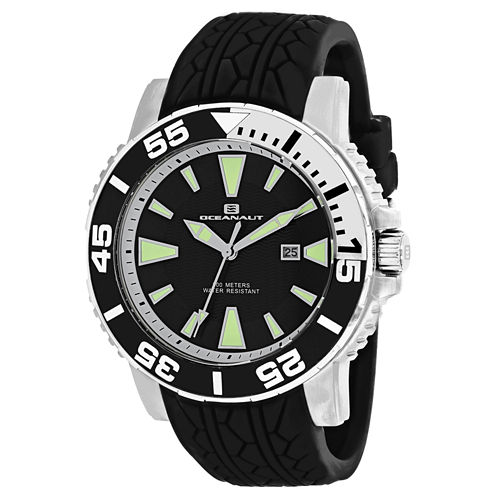 Oceanaut Mens Black Strap Watch-Oc2916