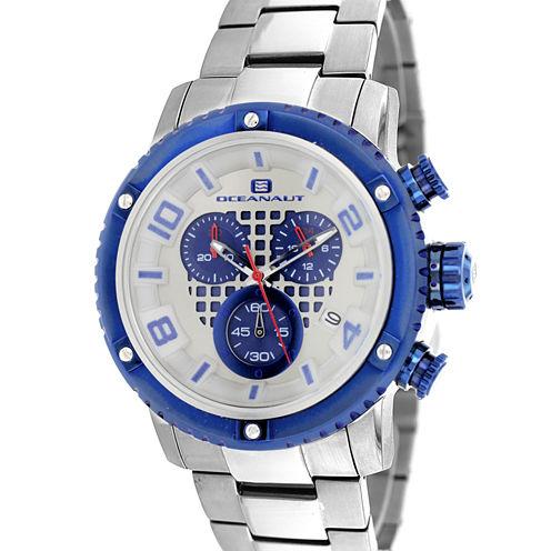 Oceanaut Mens Silver Tone Bracelet Watch-Oc3125