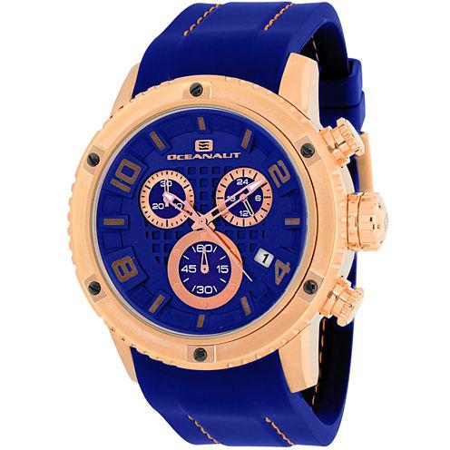 Oceanaut Mens Blue Strap Watch-Oc3126r
