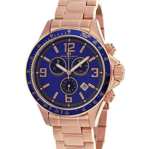 Oceanaut Mens Rose Goldtone Bracelet Watch-Oc3332