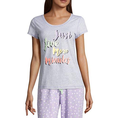 Sleep Chic Short Sleeve Pattern Pajama Top