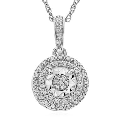 jcpenney.com | Limited Time Special 1/10 CT. T.W. White Diamond Sterling Silver Pendant Necklace