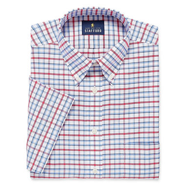 Stafford Travel Wrinkle-Free Oxford Dress Shirt