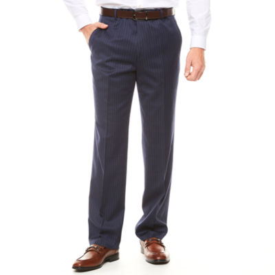 Stafford Classic Fit Wool Stripe Suit Pants