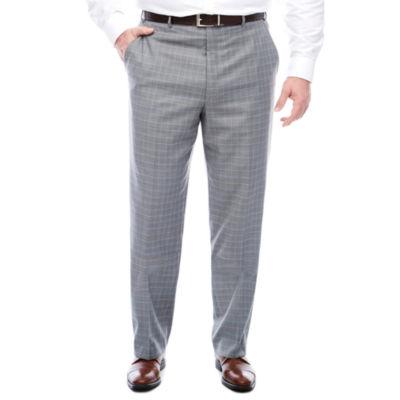 STF Travel Stretch Grey Blue Plaid FF Pants BT