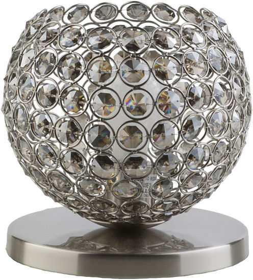 Décor 140 Bauman 8x8x8 Indoor Table Lamp - Silver