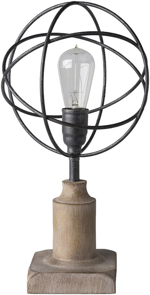 Décor 140 Henslowe 9.75x9.75x18 Indoor Table Lamp- Brown