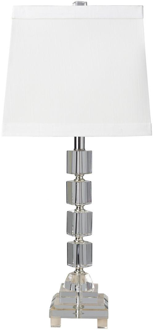 Décor 140 Loretto 11.5x11.5x27 Indoor Table Lamp- Silver