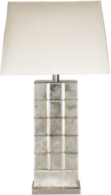 jcpenney.com | Décor 140 Selker  26x10x15 Indoor Table Lamp - Silver