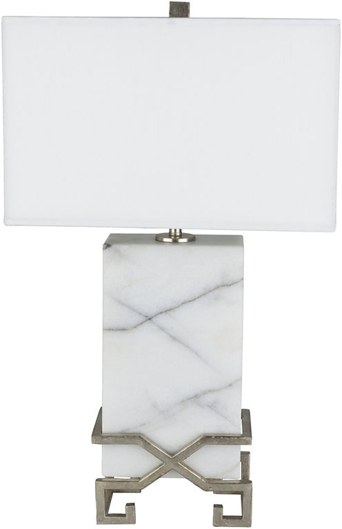 Décor 140 Oglethorpe 16x16x26.75 Indoor PortableLamp - White
