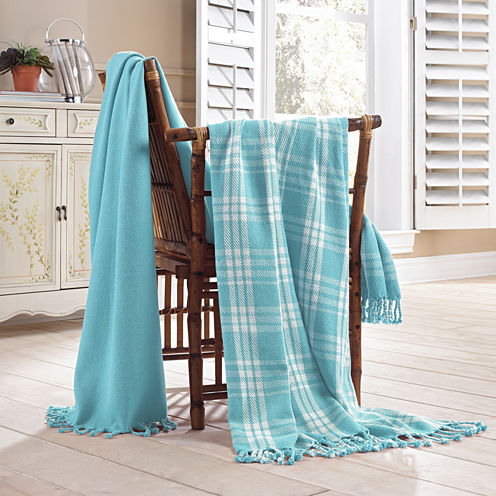 Pacific Coast Textiles Plaid 100 Cotton Throw