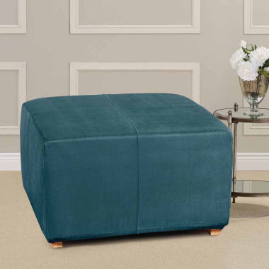 jcpenney.com | SURE FIT® Ultimate Heavyweight Stretch Suede Ottoman Cover